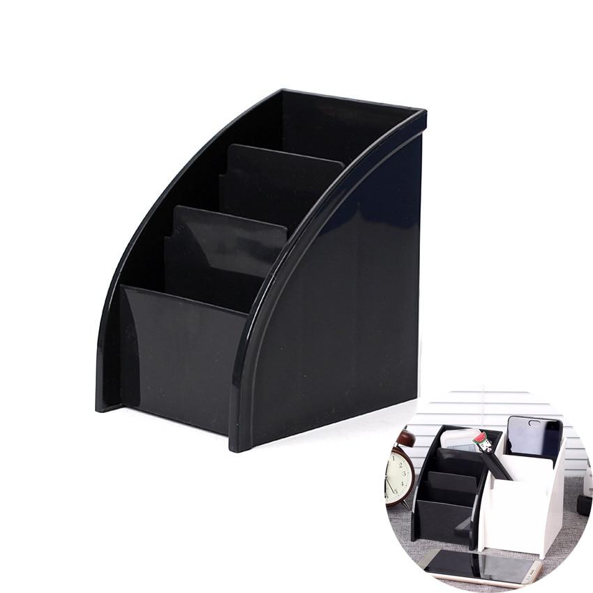 Multifunctional Desk Remote Control Organizers Simple Washable Plastic Home Office Storage Box Makeup Debris Boxes
