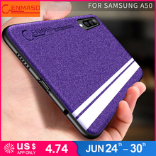 Capa For Samsung A50 case for Galaxy A30 A70 Full Protective back Fashion Pearl Glitter leather capa funda