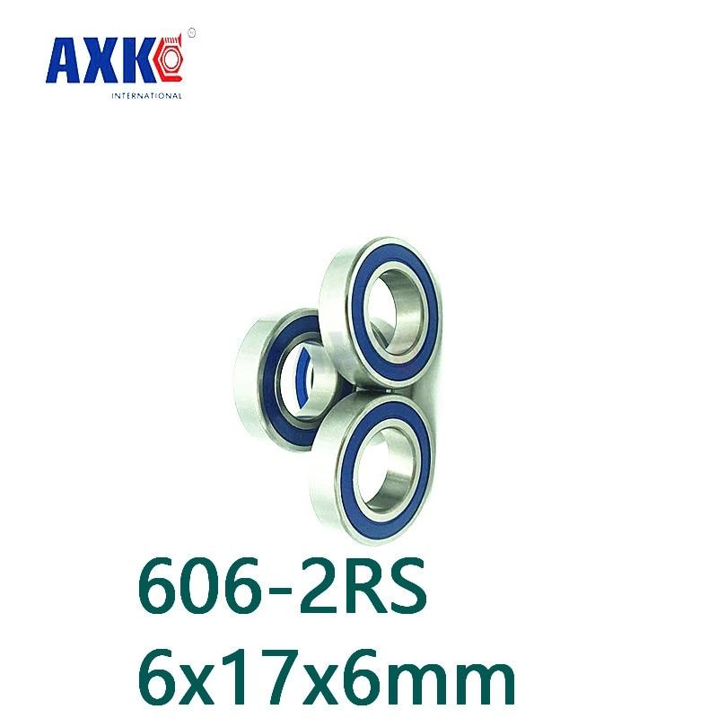 Axk Free Shipping 606-2rs 606 Hybrid Ceramic Deep Groove Ball Bearing 6x17x6mm axk free shipping 1pcs 6901 2rs hybrid ceramic si3n4 ball 61901 ceramic bearing 12 24 6mm 6901 2rs