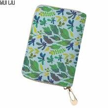 Customized PU Leather greenery maple leaf kaarthouder Cards Holder canta bag women pokemon Card Organizer sac place
