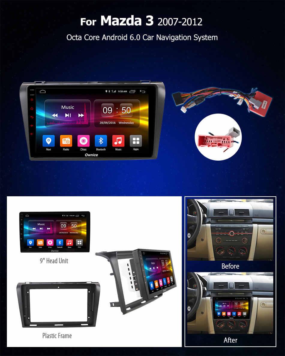 Ownice C500 + G10 Octa 8 CORE android 8.1 auto dvd gps speler Voor Mazda 3 2007-2012 navigatie ondersteuning 4G Sim-kaart 2G RAM DAB +