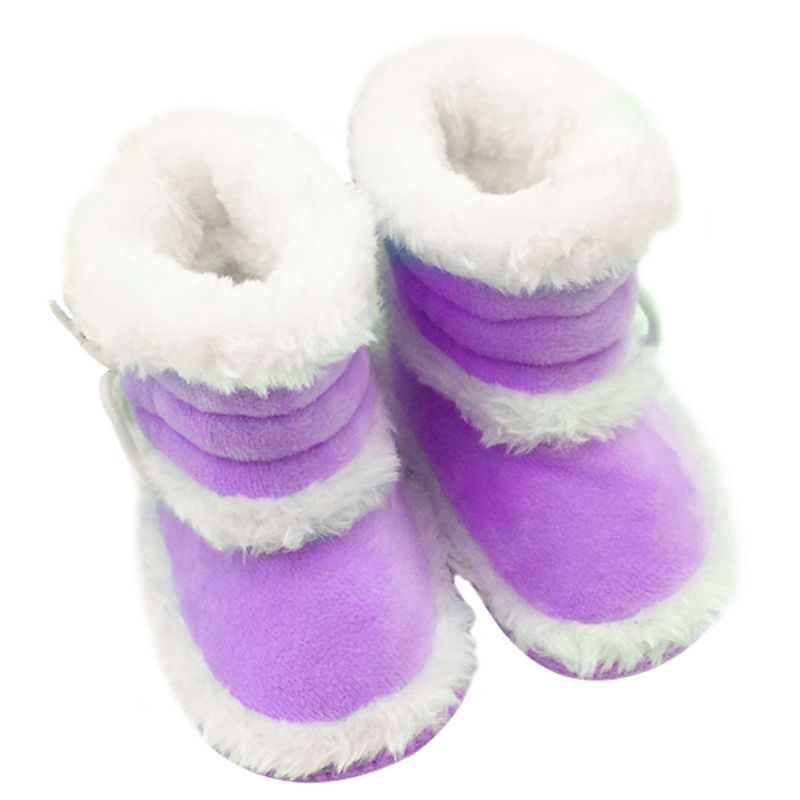 Infant Toddler Kids Girls Warm Winter Snow Shoes Baby Walker Crib Boots 0-18M