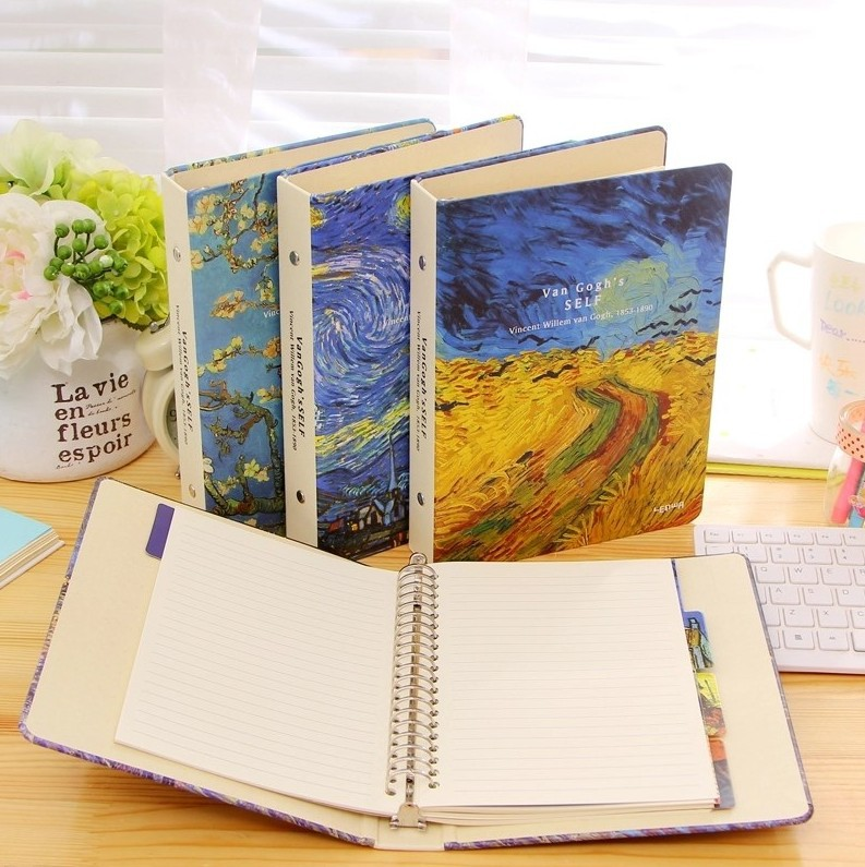 New Vintage A5 Van Gogh Plum Blossom Rye Night Sky classic spiral notebook DIY diary/daily planner/agenda organizer supply gifts lenwa classic van gogh series notebook a6 vintage business carry small portable notebook 1pcs