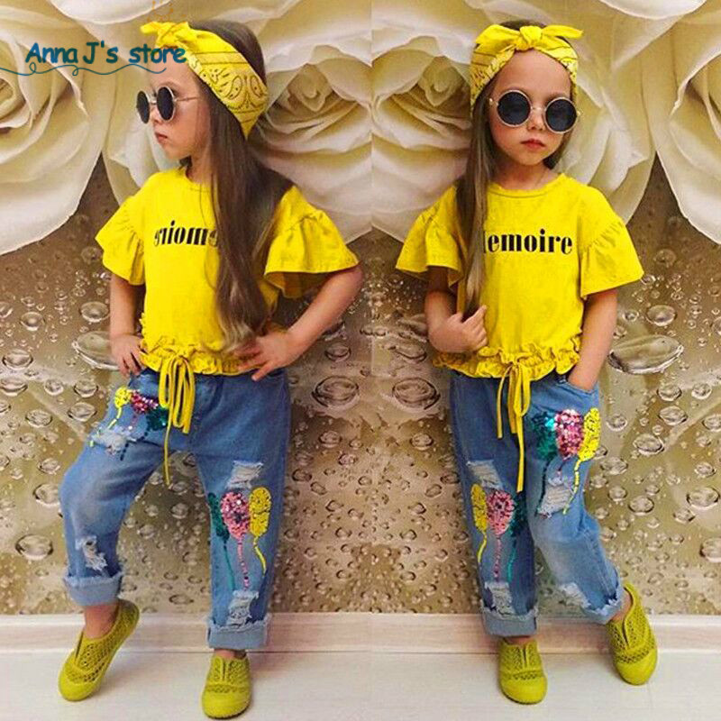 Kids Tales Summer clothes 3pcs baby girls clothing set