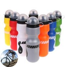 Botella de agua portátil de 750ml para bicicleta de montaña botella de agua esencial para deportes al aire libre jarra para bebidas Bike botella de agua a prueba de fugas taza 8 colores