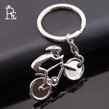 RE 100pcs/Lot Racing Bike Bicycle Keychain Key Chain Fashion Gifts Keychains Keyring Wholesale