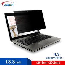 13.3 inch Anti-glare Privacy Filter Laptop Screen Protector film4:3 Standard Screen Notebook 26.8*20.2cm Computer monitor(China (Mainland))