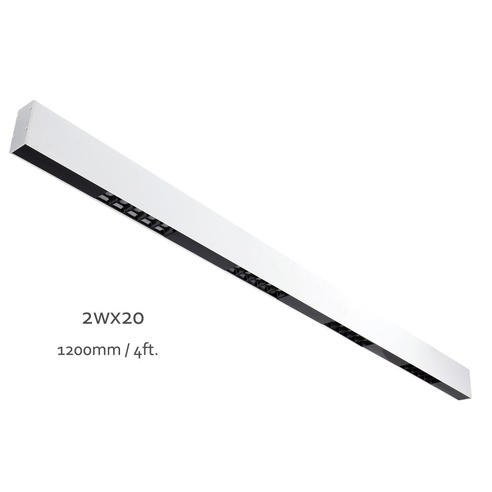 White Painted Finish 40W Anti-Glare Linear LED Bar Pendant Dining Room Lamp Surface Mounted Led Linear Light Fixture 120cm дополнительная фара gofl glare of light gl 0470 3311