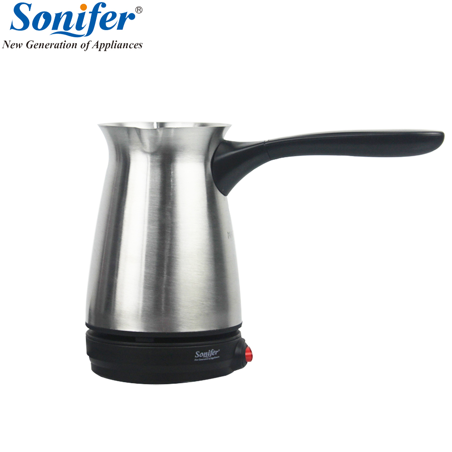 304 Stainless Steel Coffee Machine Traditional Turkey Coffee Maker Electrical Coffee Pot Coffee Kettle Sonifer portable turkey coffee maker electrical stainless steel coffee pot food grade 360 degree rotate coffee kettle 250 ml