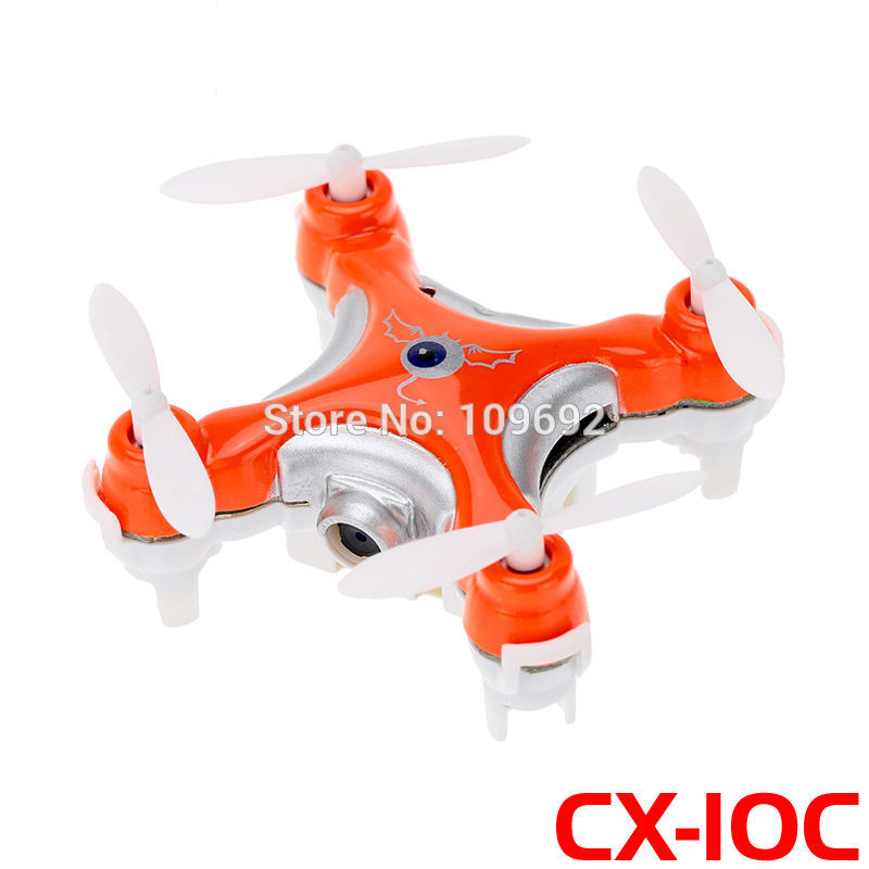 Free Shipping Cheerson Quadcopter CX-10C CX10C Mini RC Drone 6-Axis 2.4G 4CH With HD 0.3MP Camera Updated Version Helicopter Toy