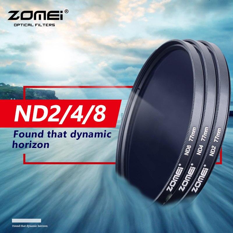 ZOMEI di Alta Qualità ND Optical Grade Densità Neutra ND2 ND4 ND8 Filtri 52/55/58/62/67/72/77/82mm