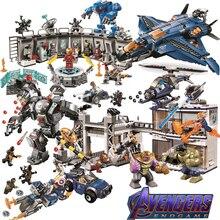 Мстители 4 legoings Марвел Мститель эндигра фигурки 2 Супер Герои конец игры Железный человек танос Человек-паук Бэтмен строительные блоки игрушки