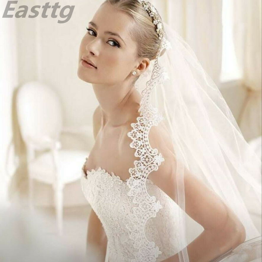 3 Meter White Ivory Cathedral Long Wedding VeilLace Edge  Bridal Veils With Comb Wedding Accessories Veu De Noiva