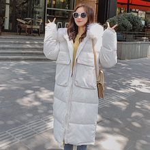 2019 Fashion Winter Oversized Coats Thicken Loose Winter Jacket Women Hooded Fur Collar Cotton Long Jacket Female Parkas Mujer new parkas mujer 2018 fashion long thicken 100