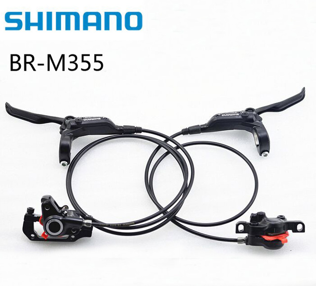US $18 6 |Shimano M355 Hydraulic Brakes for Bikes BR BL M355 Brake MTB  Bicycle Disc Brake clamp Mountain Brake pads good to M315 -in Bicycle Brake