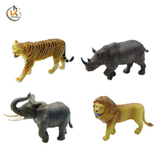 free shipping 4pcs 3D Wild animal puzzle 3666-1 educational toy KADIS plastic toys 3d