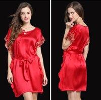 2016 New Arrival Satin Silk Sexy Womens Nightgown Satin Nightie Tenis Feminino Sleepwear Satin Night Dress