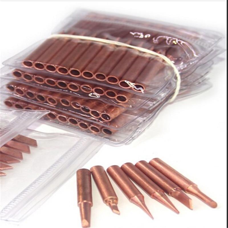 SZBFT K /SK/IS/B/I/1C/2C 3C /4C /5C/3.2D/2.4D/1.6D/1.2D/0.8D 900M-T Pure Copper Soldering Tip Welding Sting