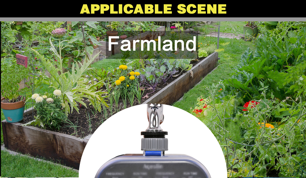 Ball Valve Electronic Automatic Garden Watering Timer For Comfort Grip And Easy Use 16