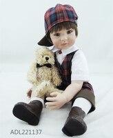 Настоящее плед одежда для мальчиков силикона возрождается младенцев куклы реалистичные 24 ''ткань тела Кукла Мягкие ледяной Bebe Reborn игрушки д