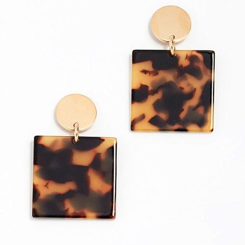 Женские леопардовые фигурные серьги ZA, висячие серьги черепаховой расцветки из акрилацетата, украшения для вечеринок - Окраска металла: 10553