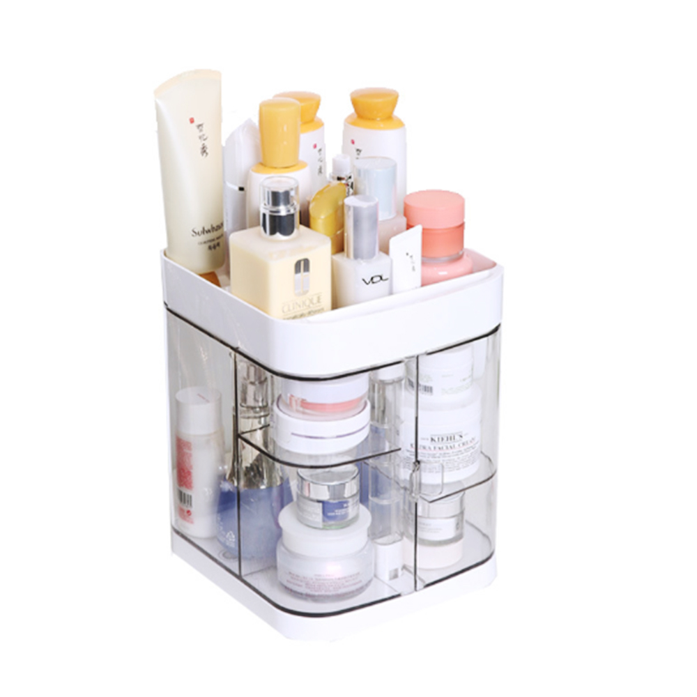 Image 3 - Hoomall New Clear Acrylic Makeup Storage Case Nail Polish Rack Lipstick Cosmetic Storage box Holder Makeup Brush Organizer-in Storage Boxes & Bins from Home & Garden