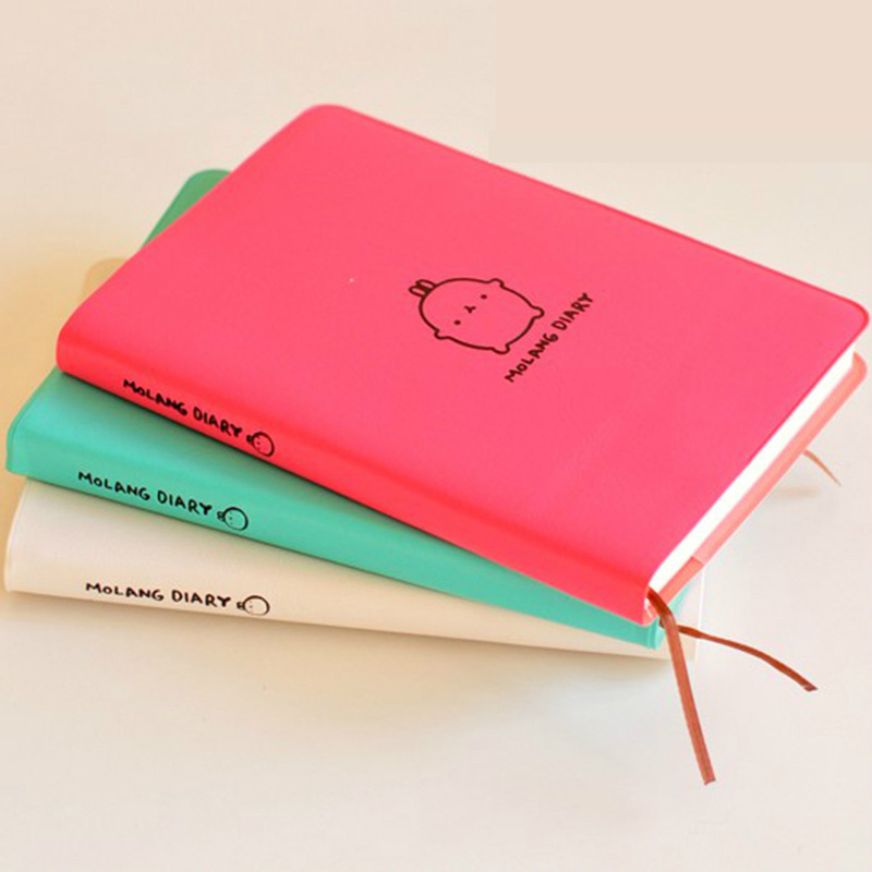 Molang Rabbit Planner Agenda Scheduler Cute Diary Any Year 2018 2019 Calendar Pocket Journal Kawaii Study Notebook Gift