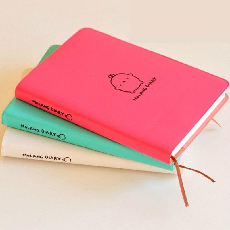 Molang conejo planificador Agenda planificador lindo diario cualquier año 2019 calendario 2018 bolsillo diario Kawaii estudio cuaderno regalo