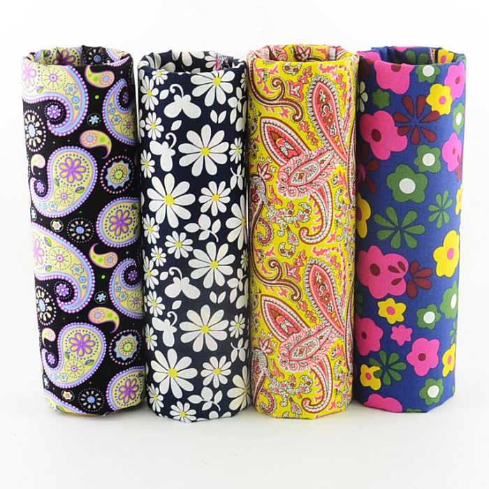 FREE SHIPPING 4 pieces 45x50cm retro paisley daisy mixed poplin cotton  fabric fat quarters sewing cloth tecido patchwork W4B1-5. Click here to Buy  ... c382ec3d747