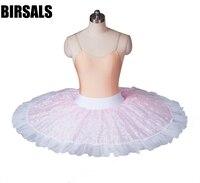 Adult Pink Professional Half Ballet Tutu Practice Performance Rehearsal Tutus Platter Ballet Half Tutu SkirtBT8967