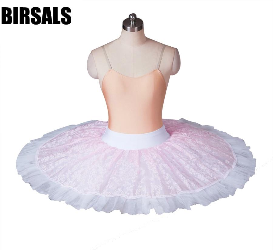 Adulte rose professionnel demi ballet tutu pratique performance répétition tutus plateau ballet moitié tutu skirtBT8967