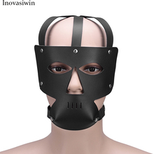 PU Leather BDSM Bondage Hoods Zipper Head Sexy Mask Harness With Zipper Mouth Fetish Slave Restraint Sex Toys For Couple