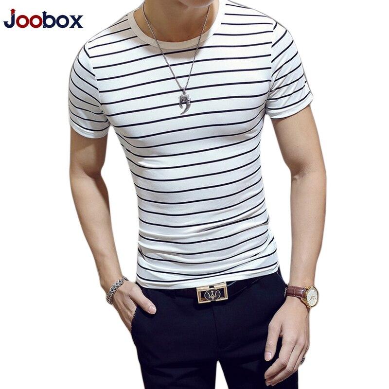 Marque Rayé T Shirt Hommes 2018 De Mode D'été t-shirt hommes Coton O Cou À Manches Courtes Slim Fit Tops T-shirts chemise homme camisetas