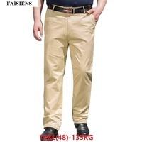 Men Pants Trousers Stretch Elasticity 9XL 10XL Loose Large Size Big Sale 7XL 8XL Men Classic Khaki Casual Office Pants 44 46 48