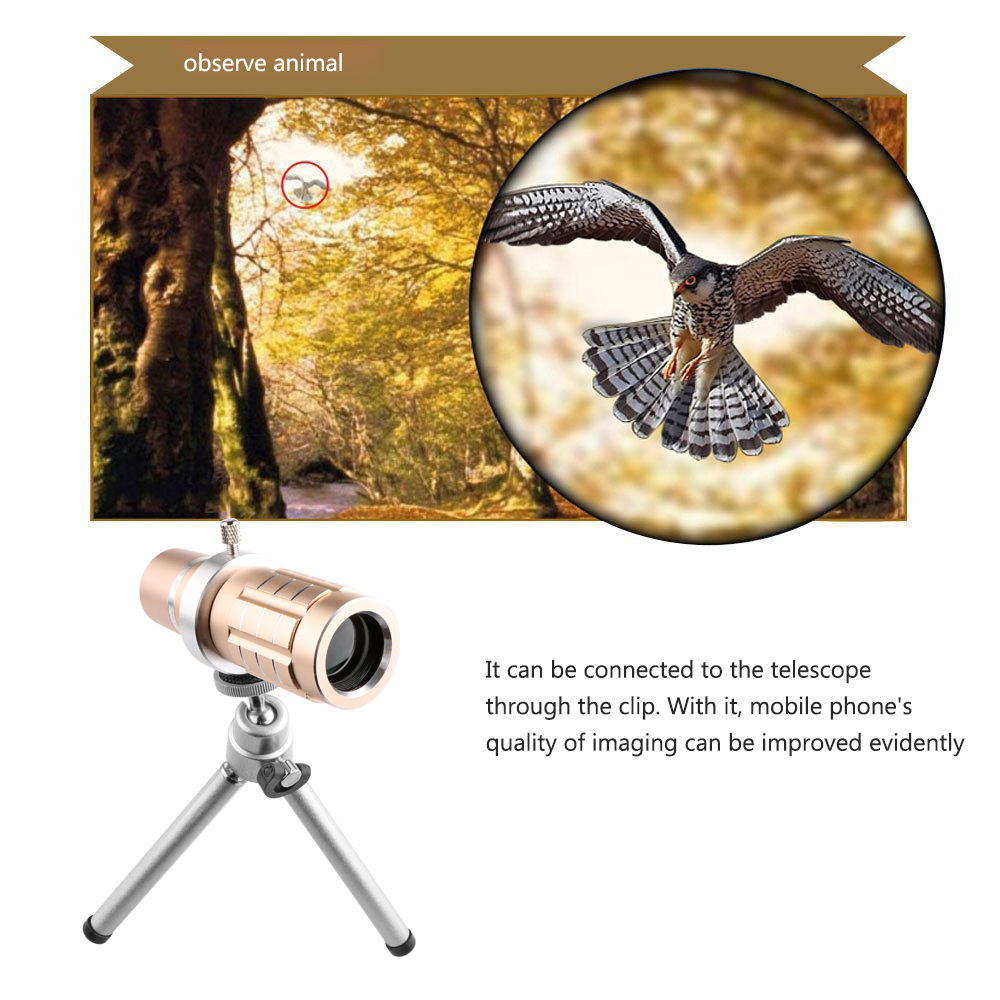 Image 3 - Aluminum 12X Telephoto Telescope Phone Camera Zoom Lens With Tripod Universal Clip For Smartphone Mobile Telescopica Lenses-in Mobile Phone Lens from Cellphones & Telecommunications