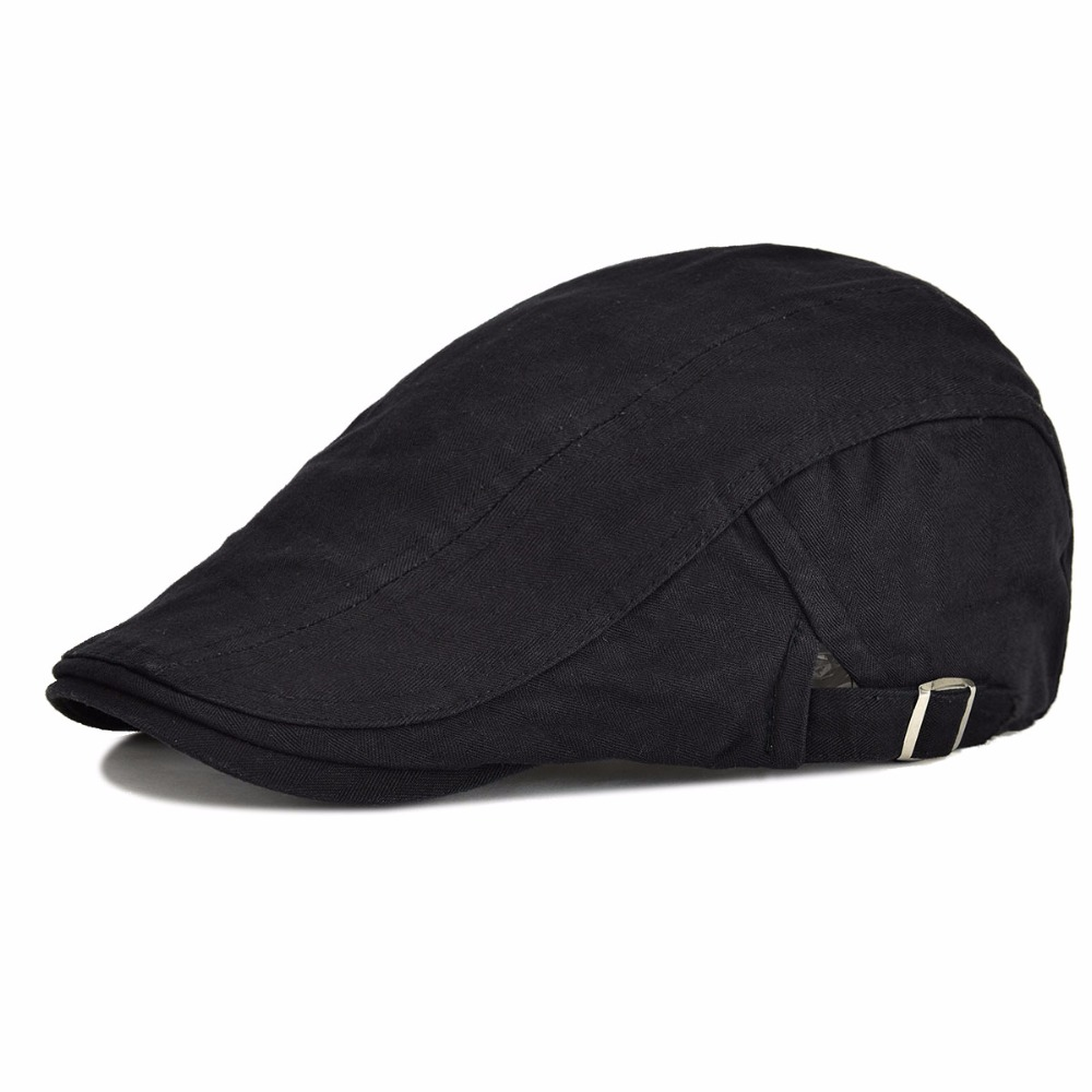 Duckbill Autumn Outdoor Sports Cotton Berets Caps For Men Casual Peaked Caps Flat Ivy Cap Solid Berets Hats Casquette Cap muñeco buffon