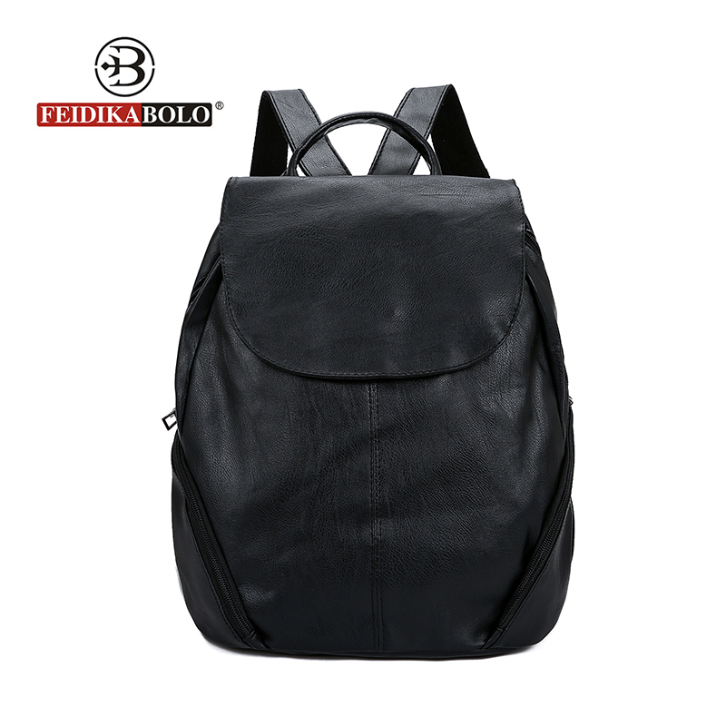2018 New fashion Brand backpack women backpack Leather school bag women Casual style Travel Bags Girls Laptop Backpack Mochila