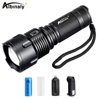 Albinaly Powerful LED Flashlight CREE XML T6 10000 Lumens Zoomable Waterproof Torch For 26650 Rechargeable Or