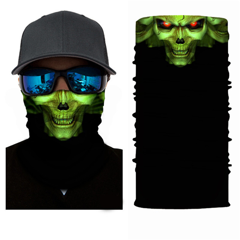 Apparel Accessories 3d Cycling Bandanas Skull Windproof Protection Bandana Magic Scarf Hiking Neck Warmer Head Shield Headband Headwear Men Crease-Resistance