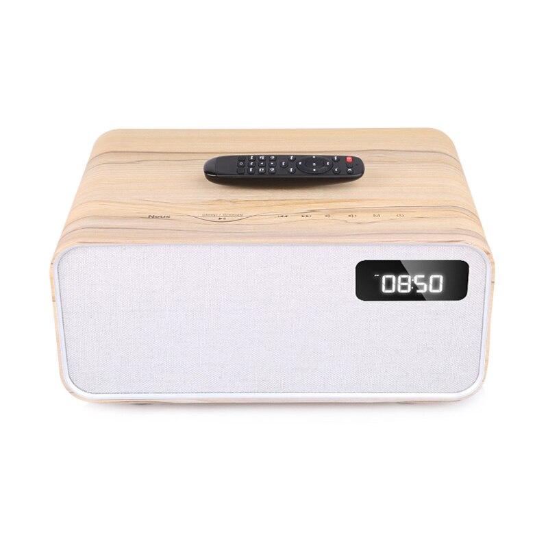 Sounderlink Neus Retro madera inalámbrica Bluetooth Smart TV de cine en casa de Casa altavoz boombox dormitorio reloj HiFi calidad de sonido - 6