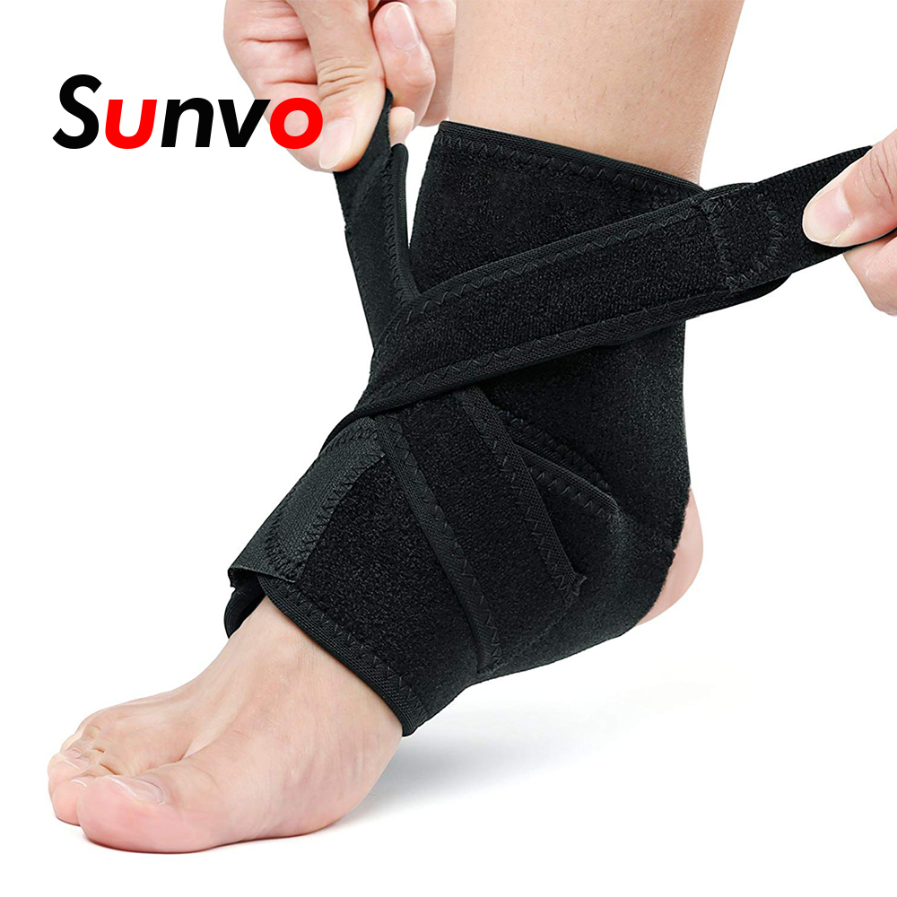 Strict Sunvo Pressurizable Bandage Heel Support For Sport Basketball Football Protect Heel Anti Sprain Ankle Brace Nursing Band Inserts Non-Ironing