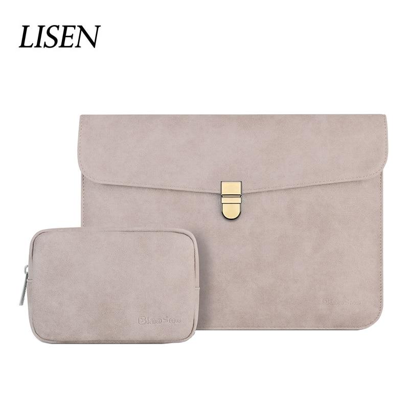 2019 НОВАЯ тонкая матовая сумка для ноутбука из искусственной кожи 14 для Macbook Pro 13 15 Touch Bar 2018 чехол для ноутбука Xiaomi Air 13,3