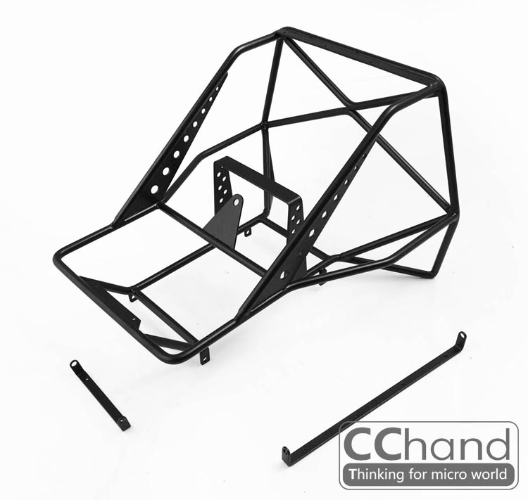 110 Rc Metal Roll Cage With Spare Wheel Rack For Rc4wd Tf2 Axial