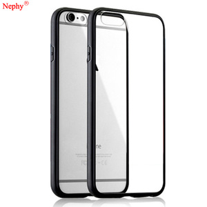 Nephy New Clear Case For iPhone X XR XS Max 5 6 S 5S 5SE 6S 7 8 Plus 6Plus 6SPlus 7Plus 8Plus Soft TPU+Hard PC Back Cover Casing(China)