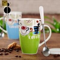Large Capacity Mug Creative Ceramic Cups Drink Funny Bone China Mug Cute Coffee Mugs Caneca Personalizada Epresso Cups WKD032