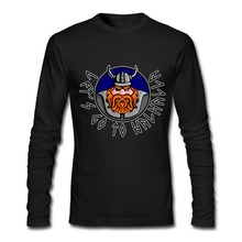 Personality Adult Long Sleeve T Shirt viking let's go to Walhalla Clothes T Shirt Men Autumn cool funny Tee(China)
