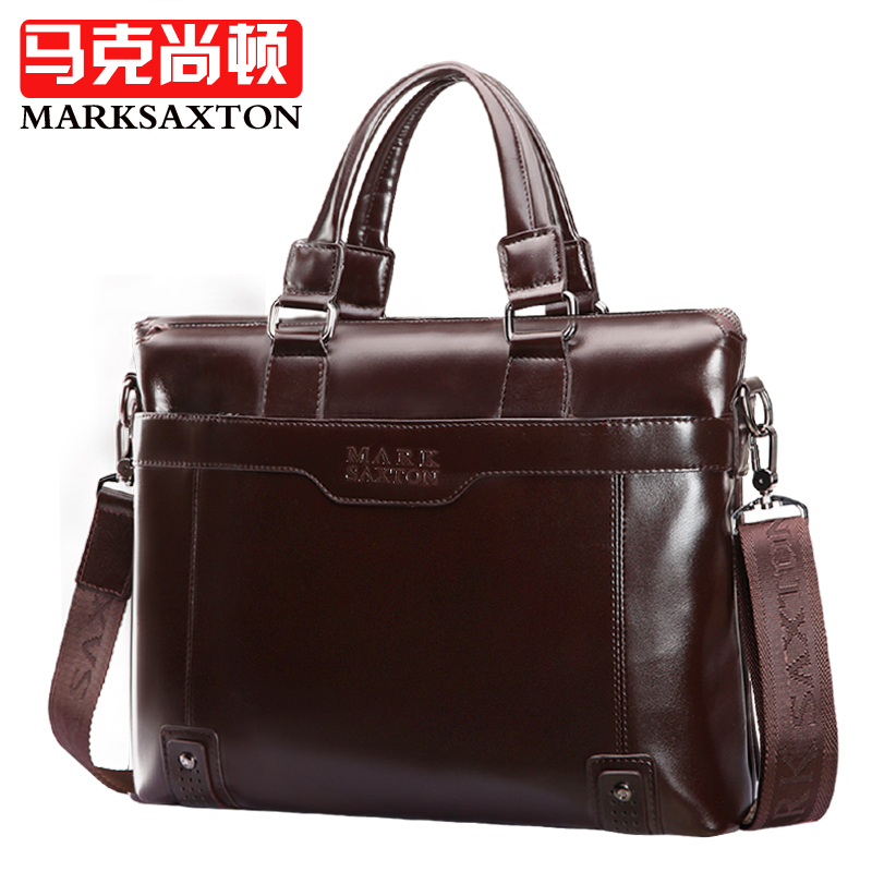 ФОТО Fashion Brand designer men handbags High quality Synthetic Leather business briefcase shining leather bag for men Laptop bag