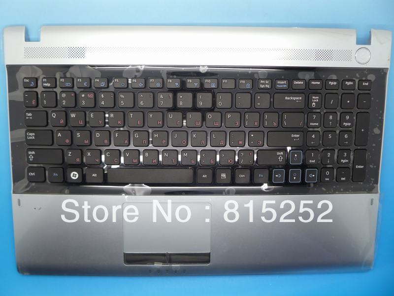 Laptop Palmrest For Samsung RV511 RV515 RV520 With RU-Russian Keyboard And Touchpad  Silver BA75-02862D NEW ru russian for samsung sf411 sf410 laptop keyboard with c shell