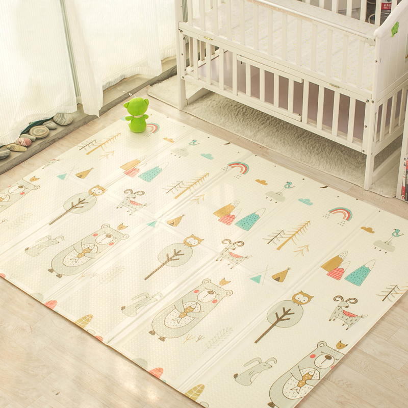 Baby Play Mat Non-toxic XPE Folding Developing Mat For Infant Soft Gaming Mat For Children Crawling Pad Activity Gym For Kids