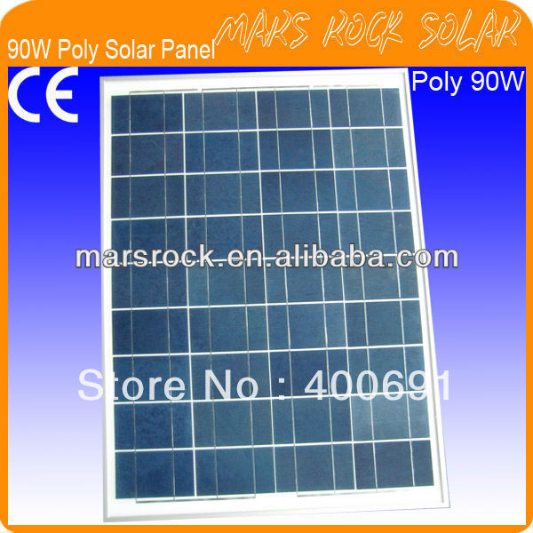90W 18V Polycrystalline Solar PV Module with High Conversion Efficiency, Nice Appearance, Reliable Parameter, Good Waterproof 35w 18v polycrystalline solar panel module with special technology high efficiency long lifecycle fend against snowstorm